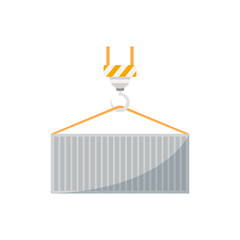 Loading freight container isolated icon