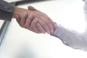 Image business mans handshake. Business partnership meeting concept