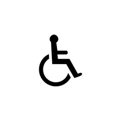 Handicapped sign vector icon