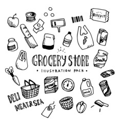 Grocery Store Illustration Pack