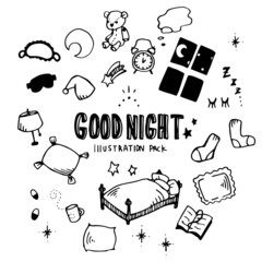 Good Night Illustration Pack