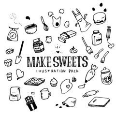 Make Sweets Illustration Pack
