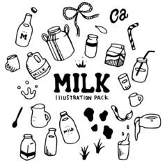 Milk Illustration Pack