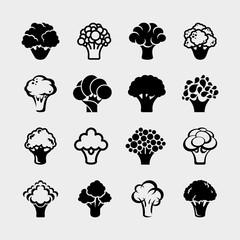 Broccoli set. Vector