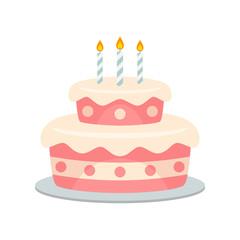 Birthday cake vector isolated
