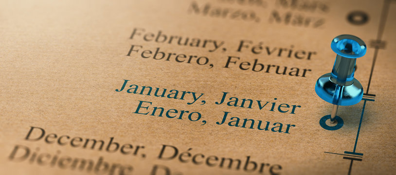 Business or Project Planning Timeline. focus on January