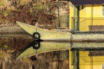 Barca sul fiume Ticino