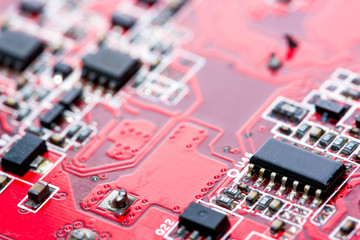 Abstract,close up of Mainboard Electronic computer background.