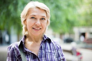 portrait of  elderly blonde woman
