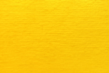Yellow brick wall texture and background