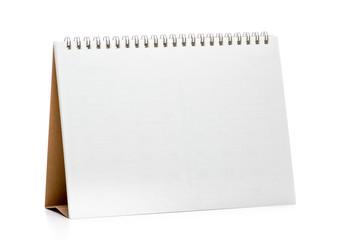 Blank desk calendar isolated on white