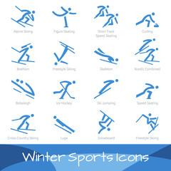 Winter Sports Icons - Ebenen einzeln gruppiert und beschriftet | layers grouped seperately and labeled