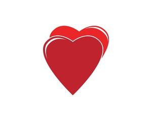 Love heart logo design template