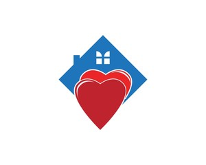 Building home dating logo design template
