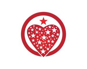 Star love logo design template