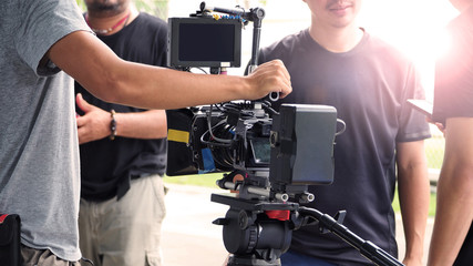 Behind the scenes of outdoor video production