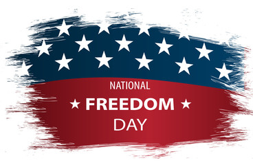 Vector illustration on USA National Freedom Day. USA flag as background.