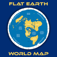 Schematic vector map of the theory of a flat earth