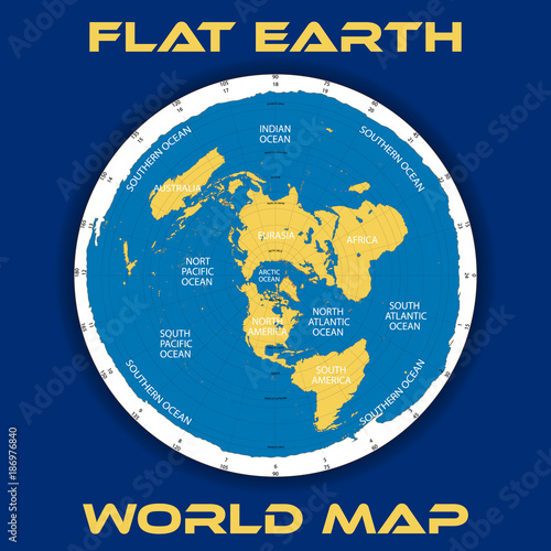 Schematic vector map of the theory of a flat earth stock image and schematic vector map of the theory of a flat earth gumiabroncs Gallery