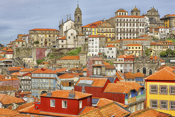 Portugal, Porto, cityview with Clerigos Church