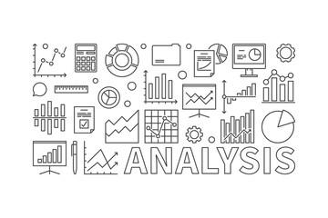 Financial analysis concept vector banner