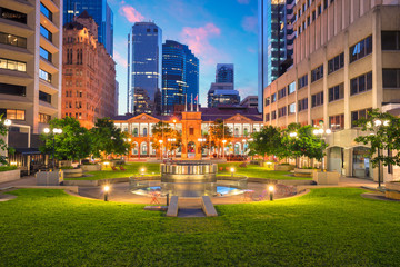 Brisbane. Cityscape image of Civic Square in Brisbane downtown, Australia during sunrise.