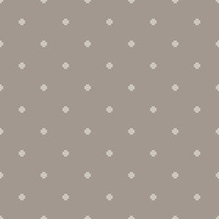 Dotted cross seamless vector pattern. Geometric repeating background.