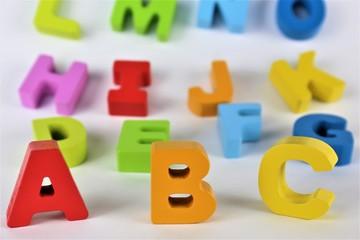 An concept Image of abc letters, pre School, toy, Alphabet