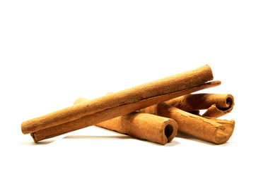 Long cinnamon on a white background with soft shadow