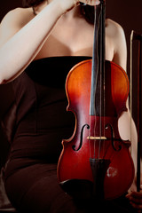 Young Woman With Old Violin