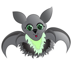 gray bat vector