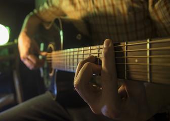 Guitar, close up