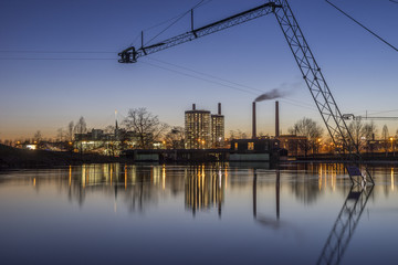 Germany, Wolfsburg, Autostadt in the evening