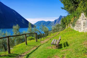 Gandria Olivenweg am Luganersee, Schweiz - Gandria Sentiero dell'olivo on Lake Lugano