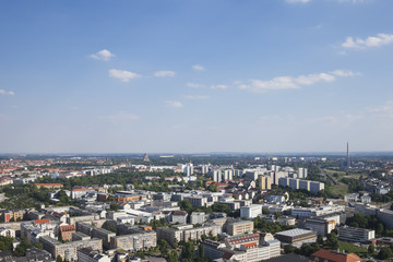 Germany, Leipzig, cityscape as seen from City-Hochhaus