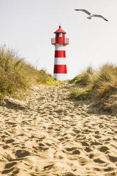 Rot/Weißer Leuchtturm