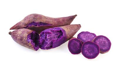 purple sweet potato isolated on white background