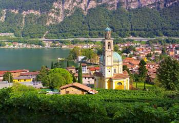 Riva San Vitale Kirche Santa Croce am Luganersee - Riva San Vitale church Santa Croce Lake Lugano