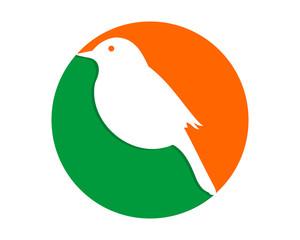 sparrow parakeets bird silhouette image vector