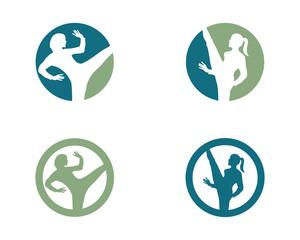 Human character logo sign
