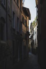 Italy, Udine, narrow dark alley