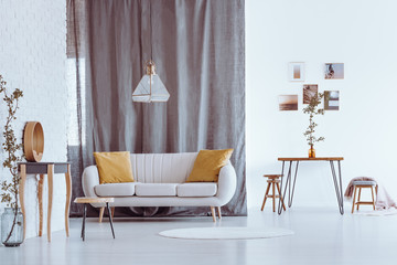 Natural gray and white apartment