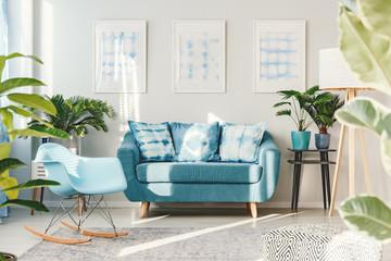 Floral living room interior