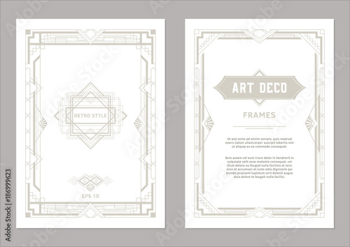 Art Deco Frame Design Geometric Frames For Wedding Invitations