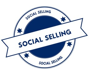 Blue SOCIAL SELLING stamp.