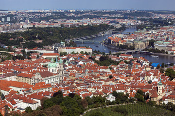 Prague - view form the Petrin hill tower
