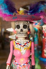 Female Santa Muerte skeleton