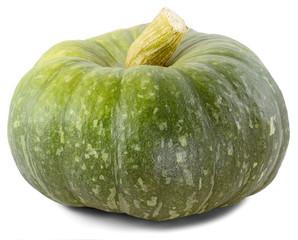green pumpkin on the side