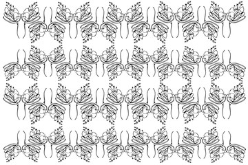vector sketch abstract flower