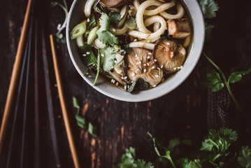 Spicy Udon Miso Soup